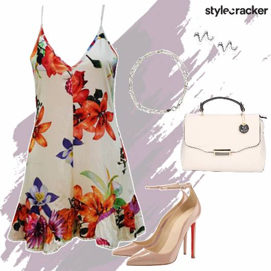 Playsuit Heels Handbag Casual - StyleCracker