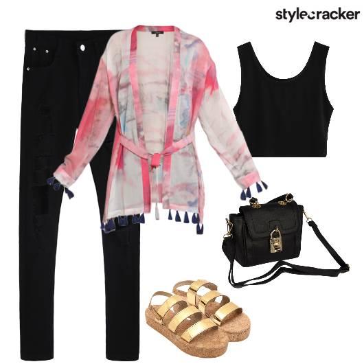 Denim Tassels SummerLayer Flatforms  - StyleCracker