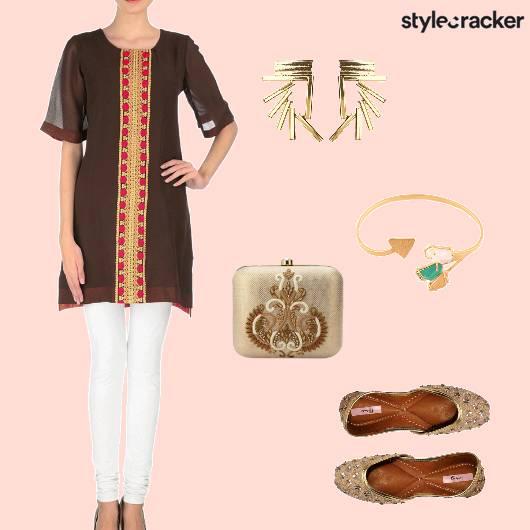 Suit Boxclutch Juttis Ethnic Indian - StyleCracker