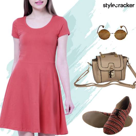 Casual Skater Dress Printed Shoes - StyleCracker