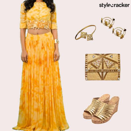 Ethnic Indian TieAndDye Croptop Skirt - StyleCracker