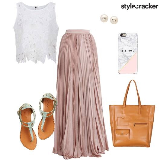 Croptop Maxiskirt Flats Tote Bag Brunch - StyleCracker