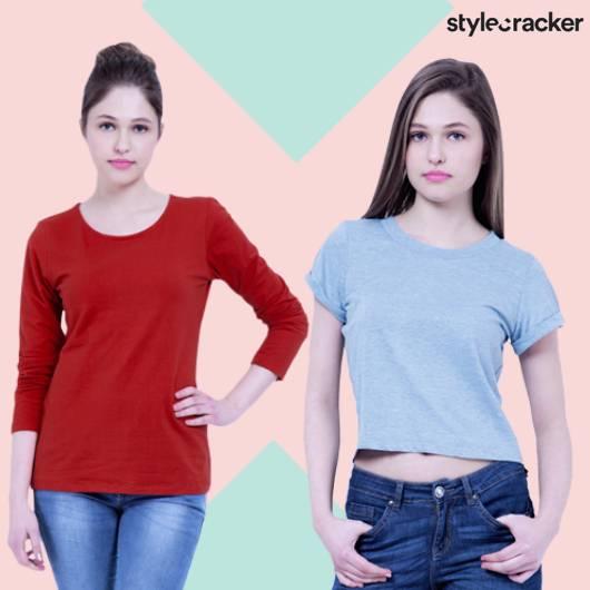 SCLoves SolidColour Basic TShirt - StyleCracker