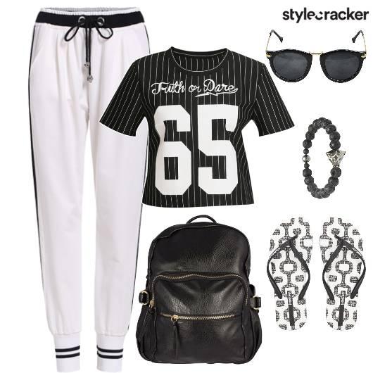 Jogger Jersey Top Backpack Casual  - StyleCracker