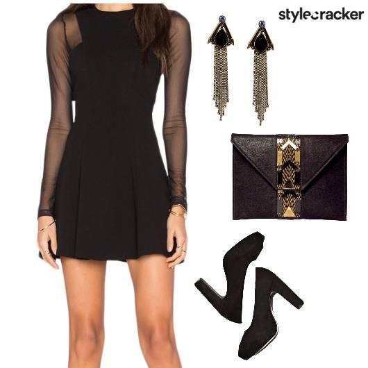 Flared Dress Night Party  - StyleCracker