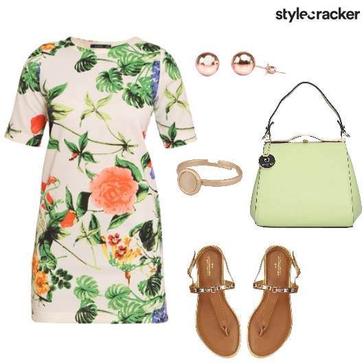 Floral Dress Lunch Summer  - StyleCracker