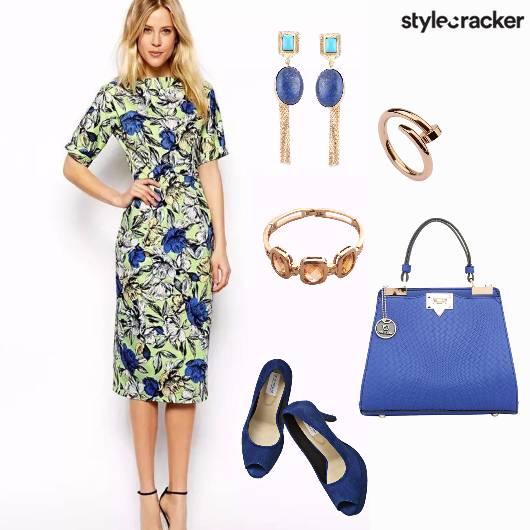 Floral Dress Summer Lunch - StyleCracker