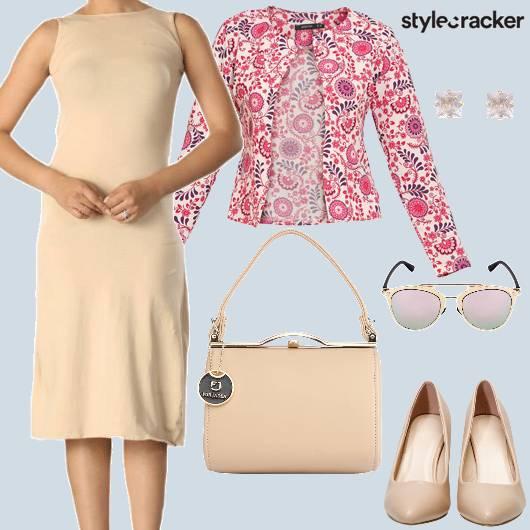 Work Meeting Dress PrintedJeacket - StyleCracker