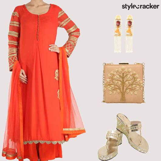 Festive Ethnic Indian Suit PalazzoPants - StyleCracker