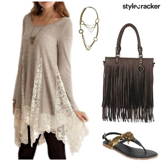 LACE TOP Fringe Bag Casual - StyleCracker