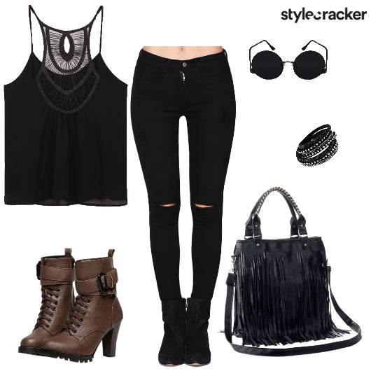Black Tassels Boots Fringe Casual - StyleCracker