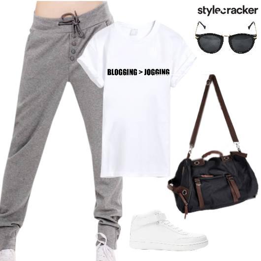Joggers Tshirt Summer Workout  - StyleCracker