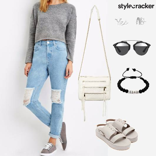 Ripped Jean Basic Top Summer - StyleCracker