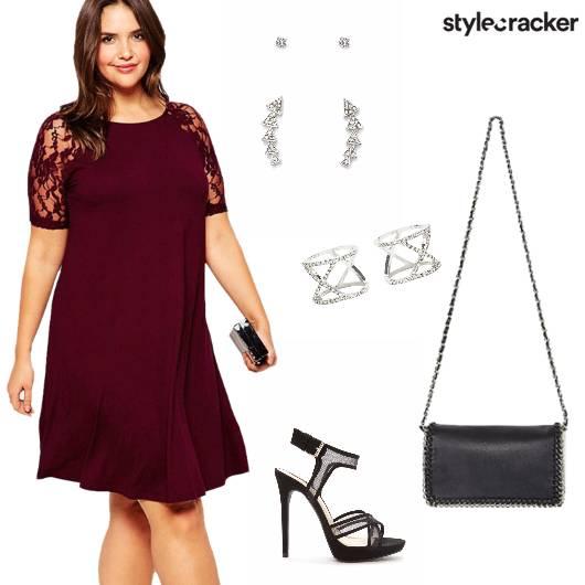Dress Heels Slingbag Earrings rings - StyleCracker