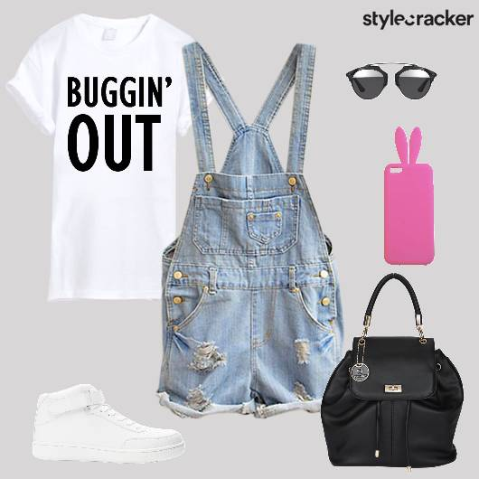 Dungaree Tshirt Hightop Backpack  Casual - StyleCracker