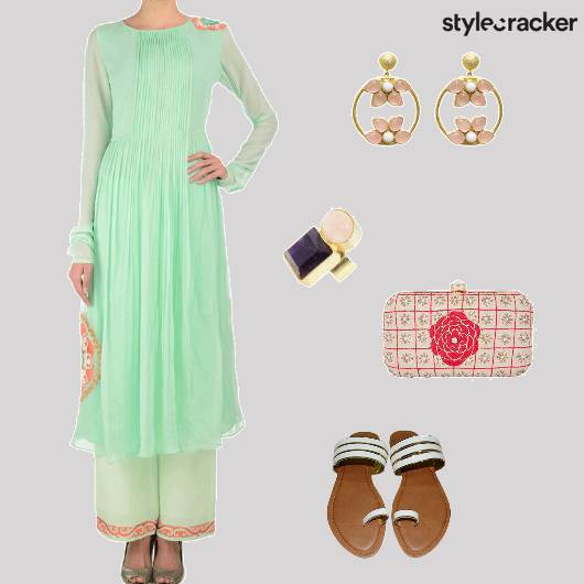 Suit Flats Clutch Ring Ethnic Indian - StyleCracker