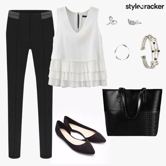 Frill Top Pants Causal Work  - StyleCracker