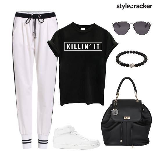 Jogger TShirt Casual Workout Summer - StyleCracker