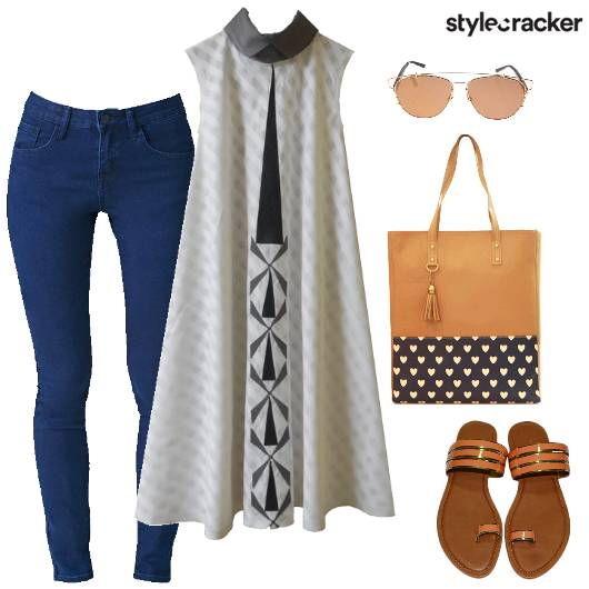 Kurta Jeans SemiIndian Casual  - StyleCracker