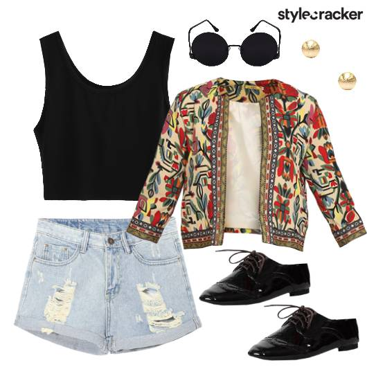 Short Print Jacket Dressed Summer - StyleCracker