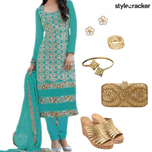 Suit Indian Ethnic Festive  - StyleCracker