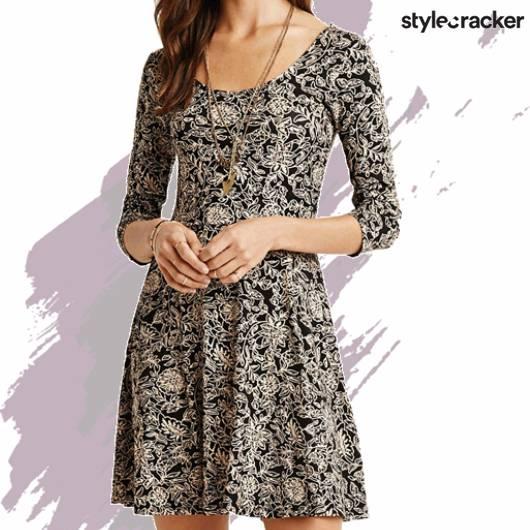 SCLOVES FLORAL DRESS - StyleCracker
