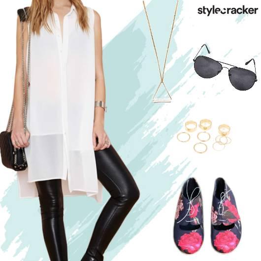 Casual Dayout LongShirt PrintedShoes - StyleCracker