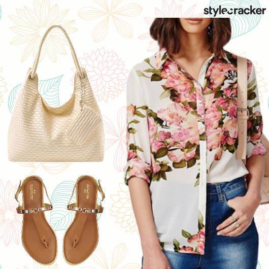 Work Casual ButtonDown Shirt Floral - StyleCracker