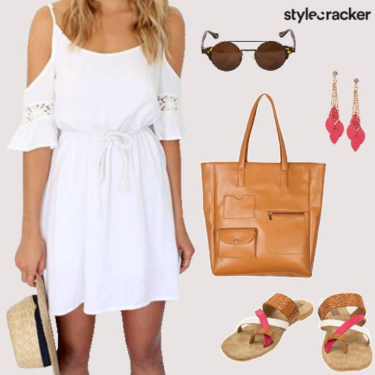 ColdShoulder Dress Beach Holiday - StyleCracker