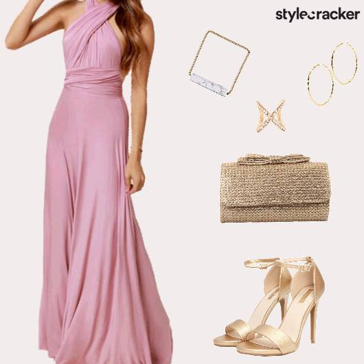 Party Formal Maxi Dress Heels - StyleCracker
