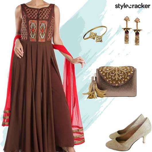 Festive Ethnic Indian Anarkali PalazzoPants - StyleCracker