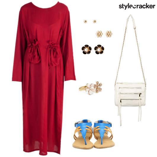Casual MaxiDress Summer SlingBag - StyleCracker