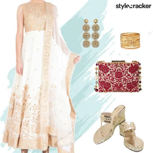 Festive Ethnic Indian Anarkali   - StyleCracker