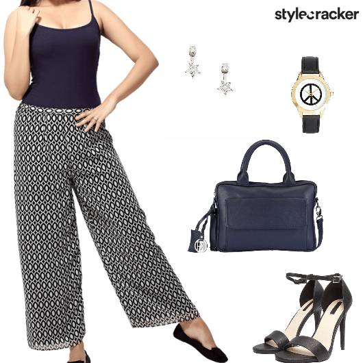 Pallazopants Heels Handbag Watch work - StyleCracker