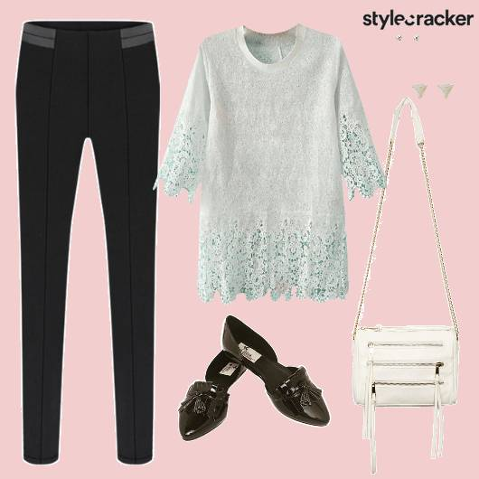 CrochetTop SlimPants SlingBag ForAMovie - StyleCracker