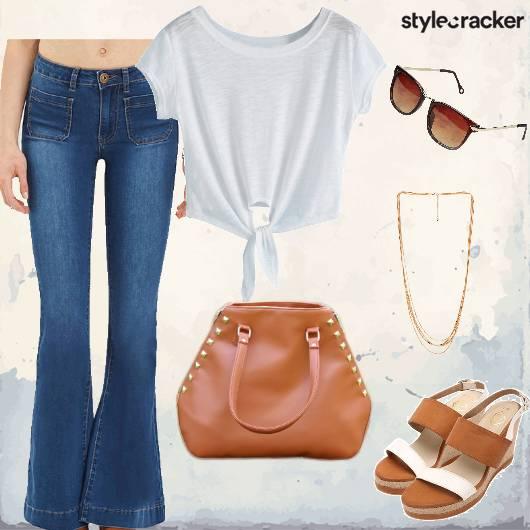 Casual Jeans Wedges LongChain Lunch - StyleCracker