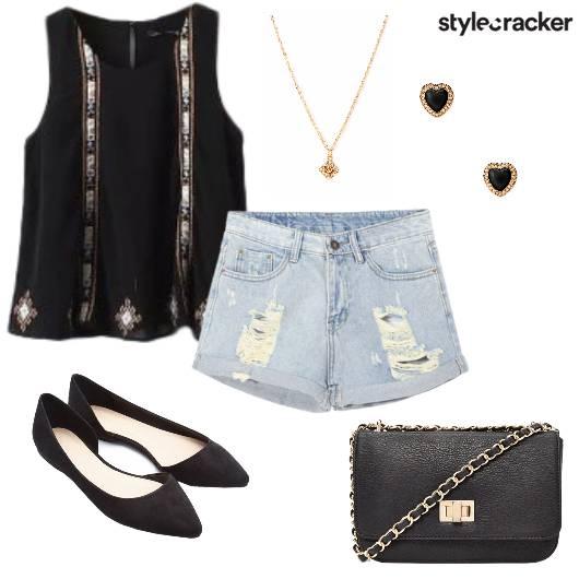 Casual Top Ripped Shorts Summer - StyleCracker