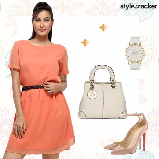 Dress Handbag Pumps Studs Work - StyleCracker