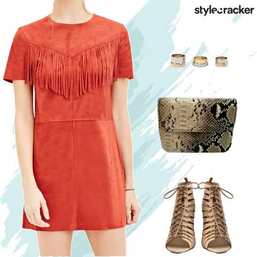 Party Nightout Weekend Suede Dress - StyleCracker