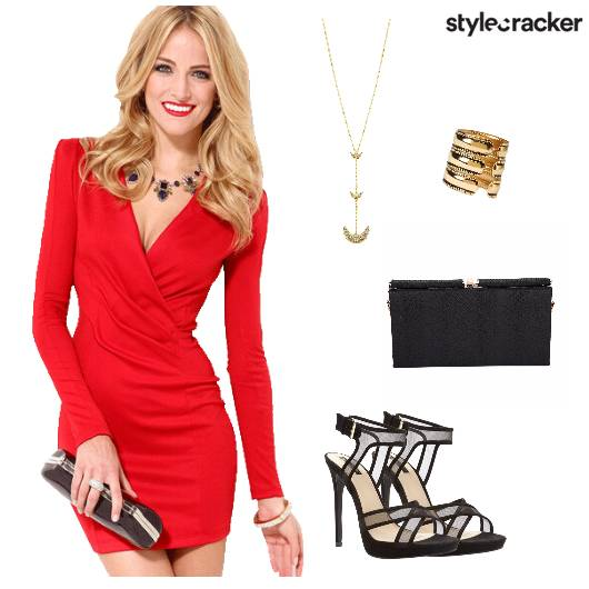 BodyconDress Heels Clutch Party - StyleCracker