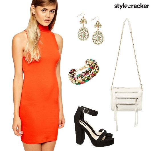BodyCon Dinner PopOfColour StatementEarrings  - StyleCracker