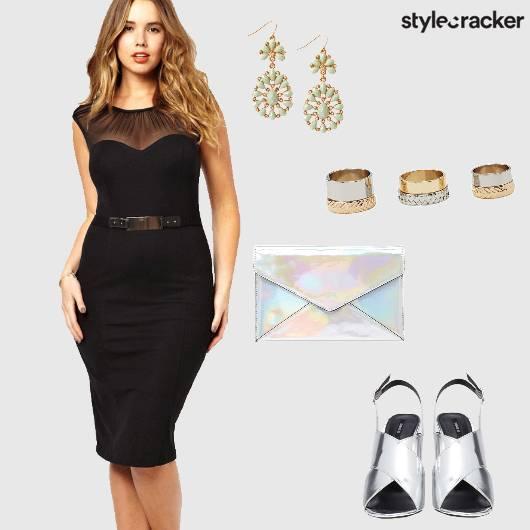 Bodycon Dress Heels Envelope Clutch Party - StyleCracker
