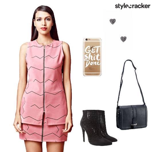 Top Skirt Set Slingbag Heels Party - StyleCracker