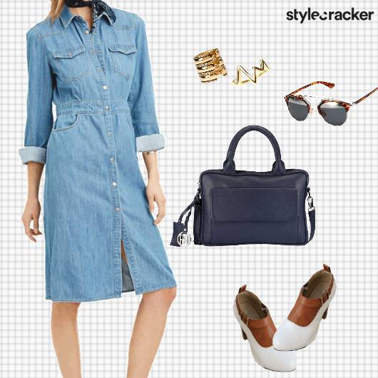 Summer Casual Work Denim Dress - StyleCracker