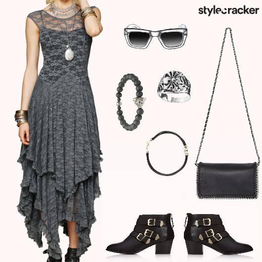 Layered Dress Boots Summer Concert - StyleCracker