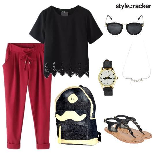 Casual Pants Lace Top Summer Basic - StyleCracker