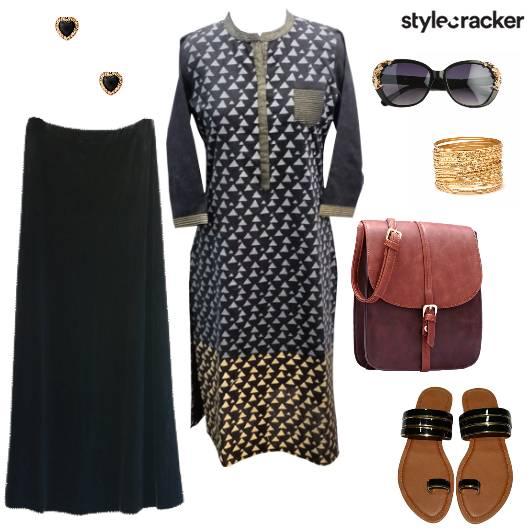Maxi Skirt Kurta Indian Ethnic Casual  - StyleCracker