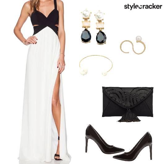 Slit Maxi Dress Night Party - StyleCracker