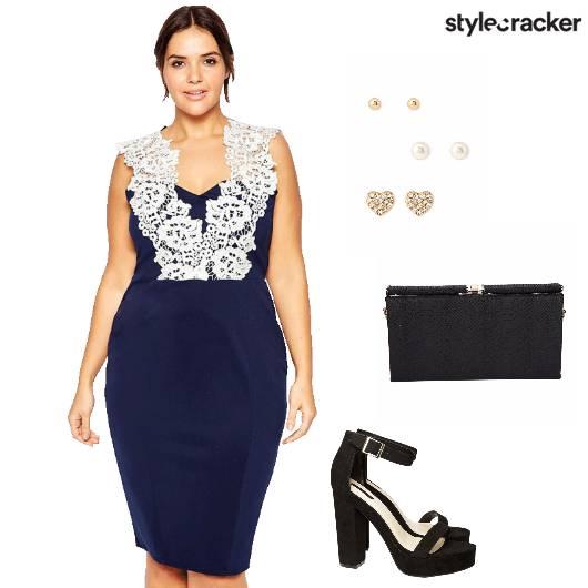 Dress Blockheels Clutch Party - StyleCracker