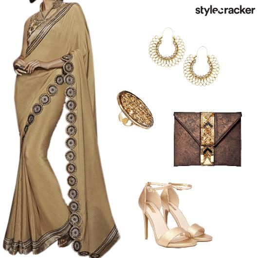 Saree Heels Clutch Indian - StyleCracker